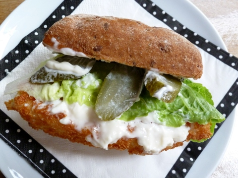 Fish finger sandwich - the ultimate snack