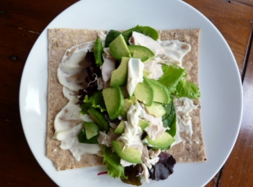 GF Newburn Bakehouse Wrap with chicken and avacado