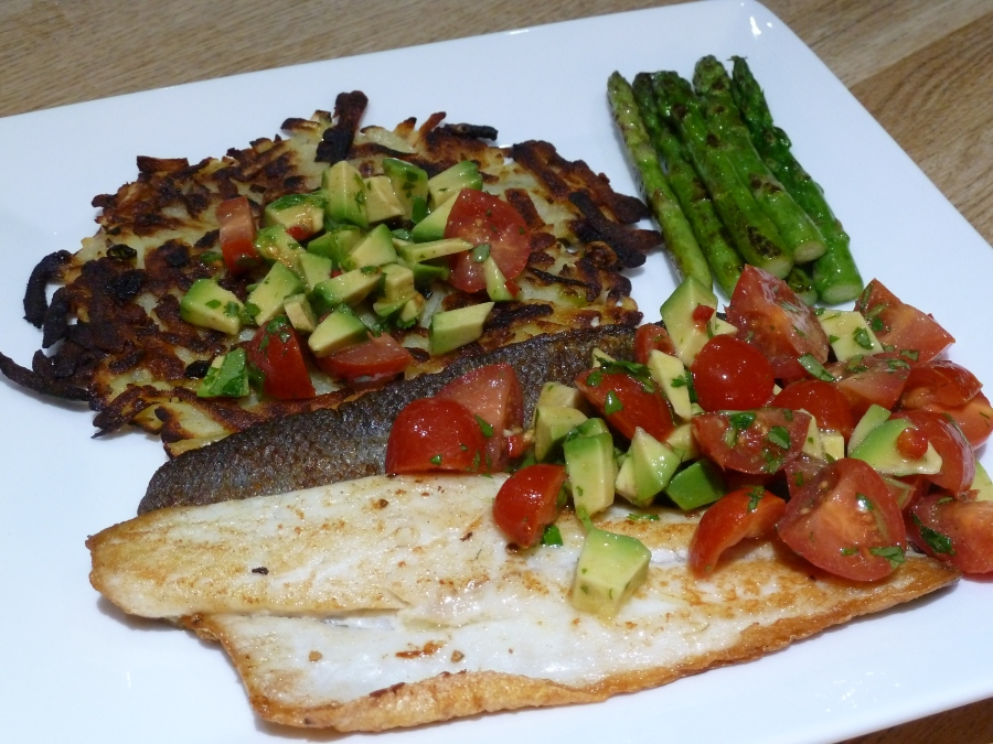 Eat More Fish – pan fried seabass