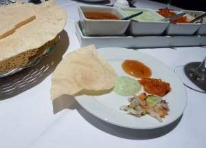 gluten free poppadums and dips