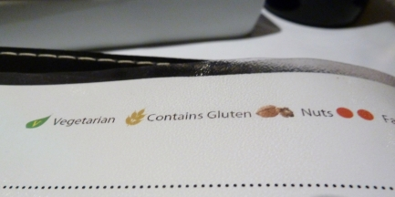 menu contains gluten