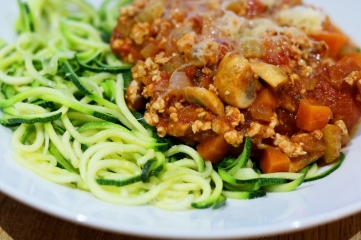 Turkey ragu with courgetti