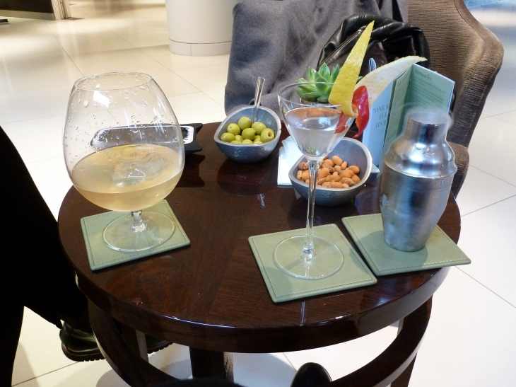 Cocktails at The Lobby Bar at One Aldwych Hotel