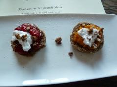Candied apple and raisin scones