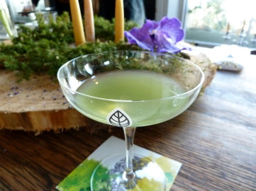 cocktail made with infused seaweed and other stuff - delish