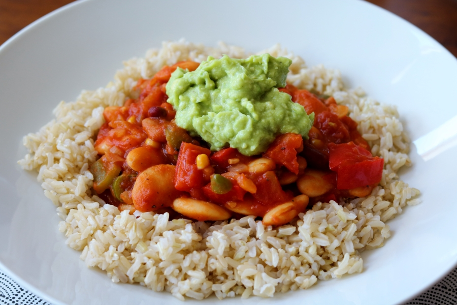 Mixed Bean and Pepper Chilli