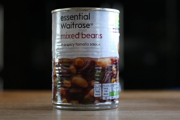 Waitrose Mixed beans in spicy tomato sauce