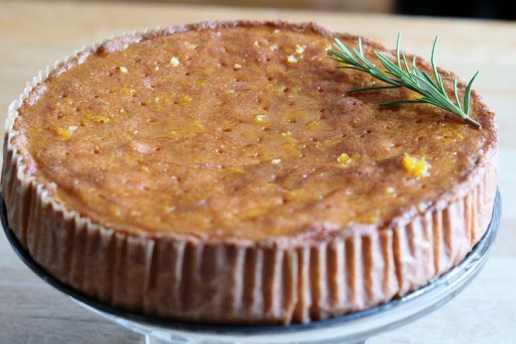 Orange & Rosemary Polenta Cake
